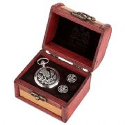Scottish Thistle Cufflinks & Mechanical Watch Set